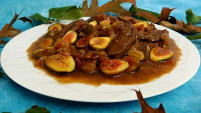 Volailles et gibiers : Sauté de canard aux figues