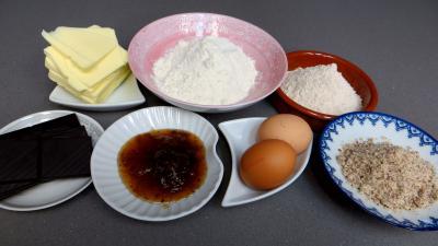 Ingrédients pour la recette : Barres sablées au chocolat