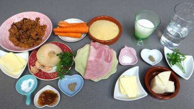 Ingrédients pour la recette : Poêlée de girolles au couscous