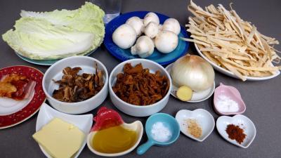 Ingrédients pour la recette : Tagliatelles forestières