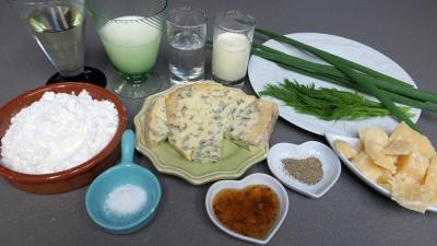 Ingrédients pour la recette : Galettes à la fourme d'Ambert