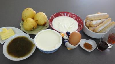 Ingrédients pour la recette : Velouté de mascarpone aux poires