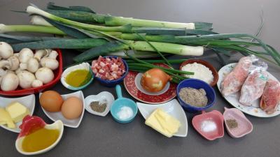 Ingrédients pour la recette : Rougets panés aux poireaux