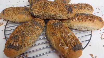 farine type 55 : Petits pains aux graines