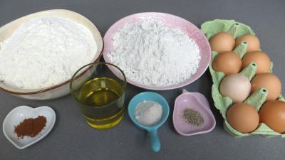 Ingrédients pour la recette : Tagliatelles fraîches à la farine de seigle