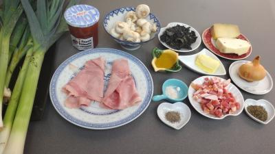 Ingrédients pour la recette : Poireaux gratinés au four