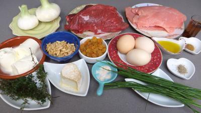 Ingrédients pour la recette : Pain de boeuf et dinde