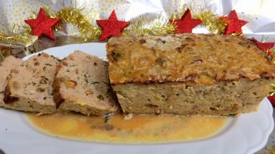 Viandes : Assiette de pain de boeuf et dinde