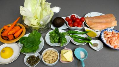 Ingrédients pour la recette : Salade au saumon