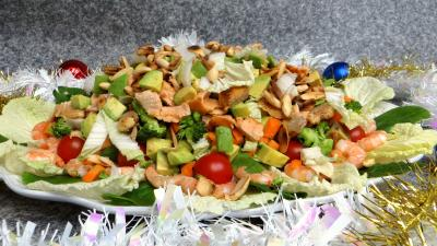Entrées & salades : Salade au saumon