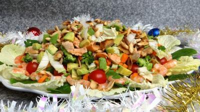 Pour débutants : Salade au saumon