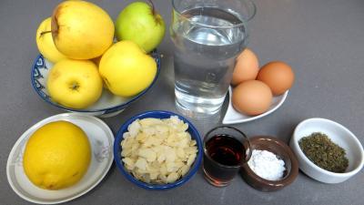 Ingrédients pour la recette : Pommes crémées à la stévia pour diabétiques