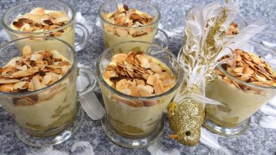 Amande effilée : Verrines de pommes crémées à la stévia pour diabétiques