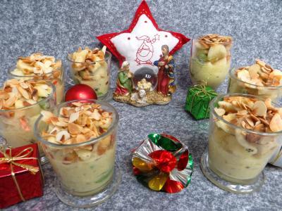 Amande effilée : Verrines de salade de fruits à la stévia pour diabétiques