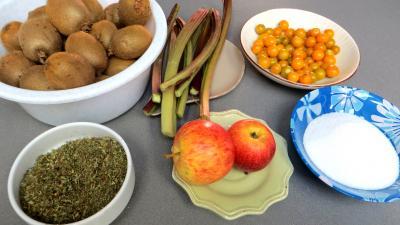 Ingrédients pour la recette : Compote de kiwis pour diabétiques