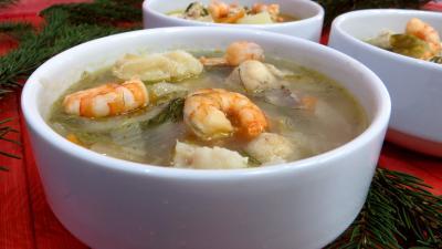 Recette Soupe de crevettes