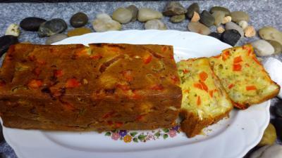 camembert : Plat de cake au poivron