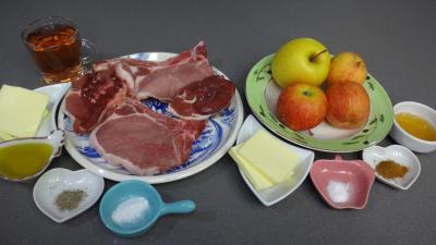 Ingrédients pour la recette : Côtes de porc au cidre rosé