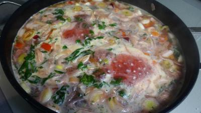 Soupe de légumes et tomme de brebis - 8.2