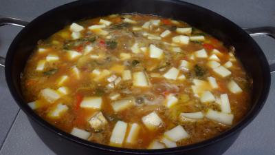 Soupe de légumes et tomme de brebis - 8.4