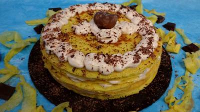 Gâteau de crêpes à la crème de marron - 6.1