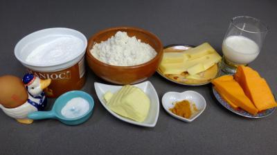 Ingrédients pour la recette : Boulettes de fromage à la mimolette