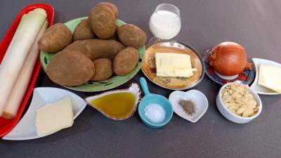 Ingrédients pour la recette : Purée de poireaux aux amandes