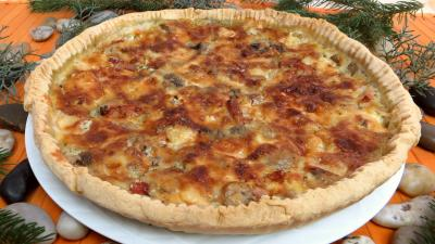 lardon : Tarte au gorgonzola