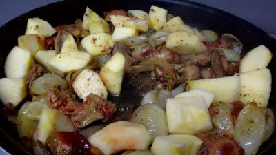 Foies de volaille aux pommes - 4.4