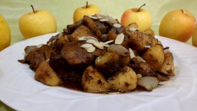 Foies de volaille aux pommes - 5.4