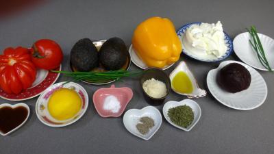 Ingrédients pour la recette : Avocats printaniers au chèvre frais