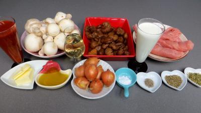 Ingrédients pour la recette : Blancs de dinde aux châtaignes