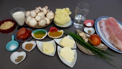Ingrédients pour la recette : Filet de perche aux champignons