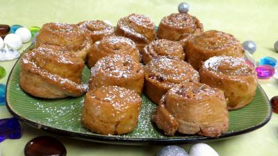 pâte sucrée : Escargots à la confiture