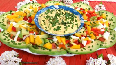 Recette Sauce relevée et sa salade