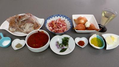 Ingrédients pour la recette : Encornets à la niçoise