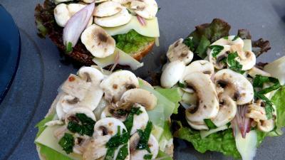 Sandwichs champignons et beurre d'ail - 2.3
