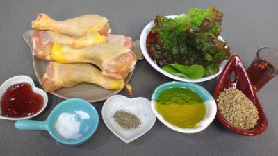 Ingrédients pour la recette : Pilons de poulet aux graines de sésame