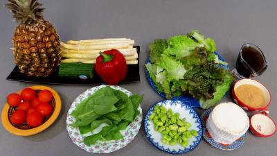 Ingrédients pour la recette : Salade de chèvre au caramel