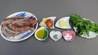 Ingrédients pour la recette : Calamars à la marinière