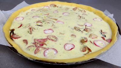 Tarte aux fromages frais et radis - 6.1