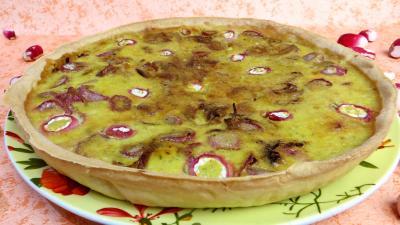 Image : recette Tarte aux fromages frais et radis