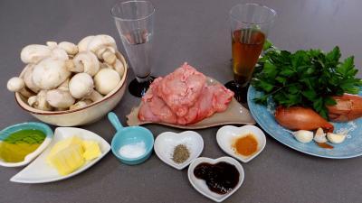 Ingrédients pour la recette : Ris d'agneau aux champignons