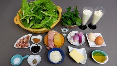 Ingrédients pour la recette : Gratin de blettes