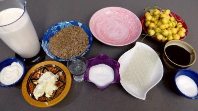 Ingrédients pour la recette : Blanc-manger aux cerises