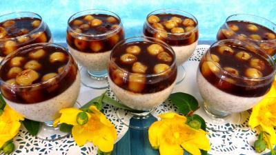 kirsch : Blanc-manger aux cerises