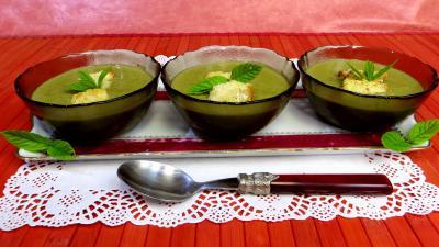 Crème de pois frais à la menthe - 5.3