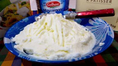 Desserts : Chantilly au mascarpone