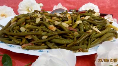 légume à la vapeur : Haricots verts aux amandes