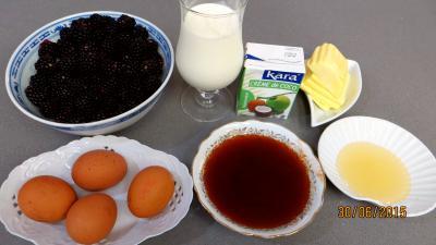 Ingrédients pour la recette : Crème glacée aux mûres et noix de coco